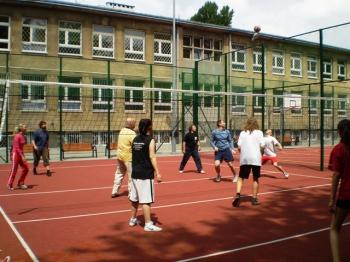 Fredrowskie Dni Sportu - mecz siatkarski Nauczyciele kontra Uczniowie