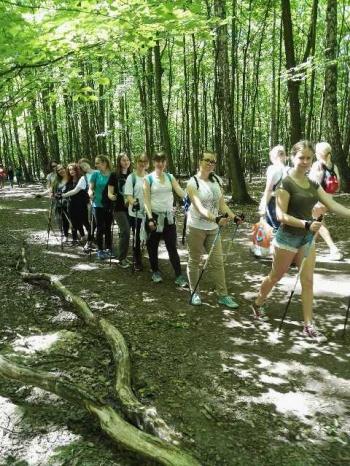 Fredrowskie Dni Sportu - spacer z kijkami