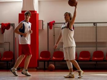 Turniej koszykówki - rozgrzewka