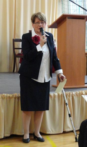 20 lat Fredry - zaproszeni goście - współzałożycielka szkoły pani dyrektor Krystyna Taraszkiewicz-Sirocka
