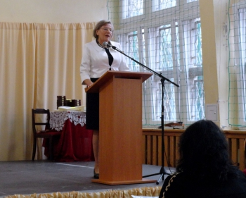 20 lat Fredry - zaproszeni goście - polonistka pani prof. Maria Kasprzycka