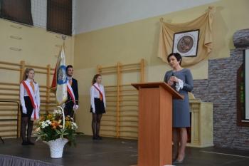 25 lat Fredry - pani dyrektor Joanna Kaleta-Szabłowska
