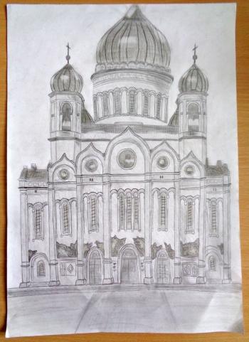 Sobór Chrystusa Zbawiciela Moskwie - aut. Oliwia Górecka kl. I A
