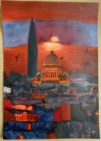 Zachód słońca nad Petersburgiem - aut. Marianna Łuczak kl. I D