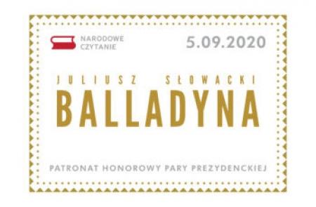 Narodowe Czytanie – Balladyna J. Słowackiego