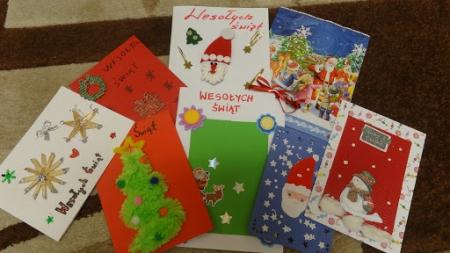 Kartki Świąteczne dla Pensjonariuszy! - czyli działania szkolnego Wolontariat